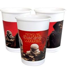 Cups: Star Wars The Force Awakens Plastic Cups - 200ml