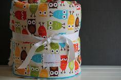 Baby Blanket Owls Bermuda by orangeberrybaby on Etsy, $49.00
