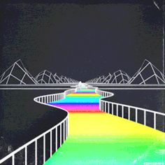 The Journey is the Destination. Have a good week everyone. Sound loop: Channel Surfing by Staring at Screens. New Retro Wave, Retro Waves, Aesthetic Gif, Retro Aesthetic, Trippy Gif, Gifs, The Journey, Modelos 3d, Psychedelic Art