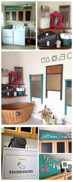 Laundry Room Makeover & A Renter Friendly Cabinet Makeover