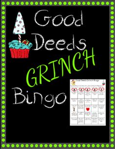 EngagingLessons from Good Deeds Grinch Grow your Heart Bingo! on TeachersNotebook.com - (3 pages) - Great way to get kids thinking about doing good deeds by playing this fun bingo game! It also comes with a blank template so the kids can create their OWN good deeds template!
