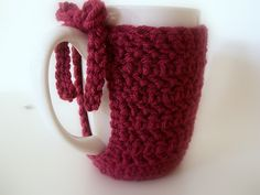 crocheted coffee mug cozy! So Cute!