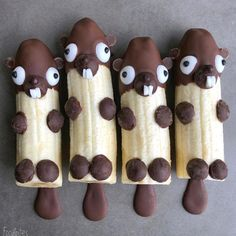 "3,452 Likes, 102 Comments - THRIVE Magazine: VEGAN (@thrivemags) on Instagram: ""How cute are these! Chocolate banana beavers by Sine @foodbites #chocolate #banana…"""