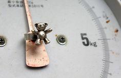 'Sterling silver, playmobil teddy bear ring'  soooo cute!!!