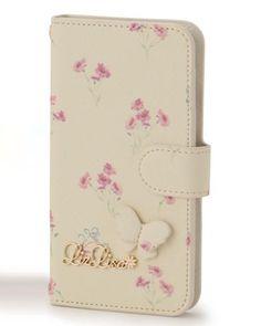 バタフライフラワーiPhoneケース