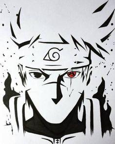 Kakashi cara top no Naruto Naruto Shippuden Sasuke, Naruto Kakashi, Kakashi Sharingan, Anime Naruto, Wallpaper Naruto Shippuden, Naruto Art, Boruto, Sasuke Sakura, Naruto Drawings