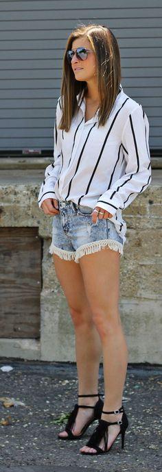 On The Fringe Summer Style: I'd like the shorts longer, but love the idea of adding fringe!