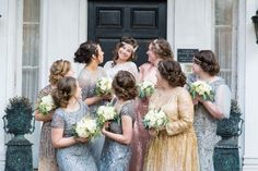 We can't get over the boho-glam wedding party image from Kim Smith Photography.  Click the image to connect with this amazing Memphis wedding photographer. Photo credit: Kim Smith Photography