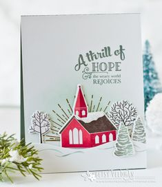 A Thrill Of Hope Card by Betsy Veldman for Papertrey Ink (September 2016)