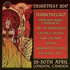 Desertfest London 2017 art