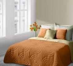 Pomarančový prehoz Alisa je dostupný v troch rozmeroch: 170x210, 220x240 alebo 230x260 cm.