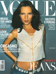 Kate Moss by Tom Munro Vogue Brazil August 1999