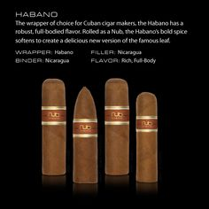 Habano | Nub Cigar | When you don't want or have time for a full size cigar.
