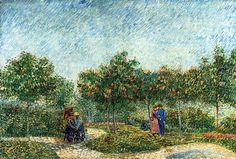 Vincent van Gogh — The Voyer d'Argenson Park in Asnieres via Vincent...