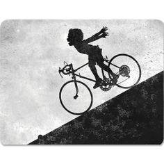 Art Postcard   Girl Bike  Faster Faster  boy by circlesandsquares, $2.25
