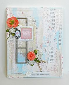 """Erin Blegen: My Scrap Cabin: """"Imperfection is Beauty"""" Canvas: Webster's Pages Growing Up Girl! Scrapbook Journal, Scrapbook Pages, Scrapbooking Ideas, Scrapbook Layouts, Mixed Media Journal, Mixed Media Canvas, Paper Art, Paper Crafts, Growing Up Girl"""