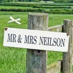Personalisierte 'Herr & Frau' Zeichen-Hochzeitsgeschenkidee