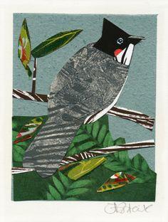 Bulbul by Fiona Roderick Mosaic Ideas, Printmaking, Birds, Creative, Prints, Character, Animals, Life, Art