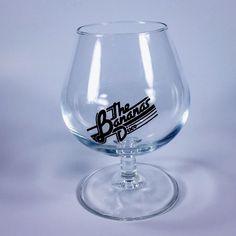 Vintage Brandy Snifter The Bananas Disco Bar Club Advertising Barware Glass #BananasDisco