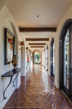 La Vereda - mediterranean - hall - santa barbara - Lori Smyth Design Doors & arch way Style Hacienda, Hacienda Homes, Mexican Hacienda, Hacienda Kitchen, Spanish Style Homes, Spanish House, Spanish Revival, Spanish Style Kitchens, Spanish Colonial Kitchen