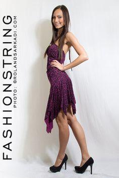Női miniruha, lila - randi ruha, party ruha