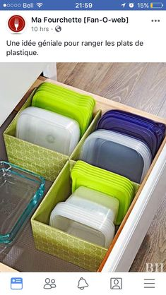 Genius Food Storage Container Hacks Say goodbye to chaotic cabinets and hello to easy organization! Utilize every inch of cabinetry space with these genius food storage container hacks that will keep your supplies organized and easy to access. Home Organisation, Pantry Organization, Pantry Storage, Storage Area, Pantry Diy, Dollar Tree Organization, Refrigerator Organization, Drawer Storage, Storage Design