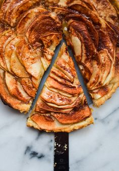 Honey-Glazed Apple Tart. A simple apple tart cooked in a gooey honey ...
