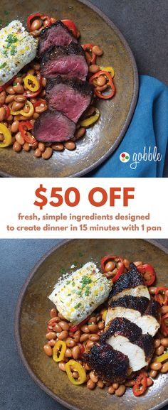 Gobble | Fresh & Simple Ingredients | 15 Minute Dinners Designed To Create Dinner | Dinner For Two | Quick and Easy Recipes | New Recipes To Try | Cook At Home | Fresh Ingredients | What To Have For Dinner | Dinner Recipes | Easy Dinner Recipes | Gourmet Meals | $50 OFF | Food Delivery | Meal Delivery Kit | Home Food Delivery