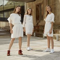 White and More - Konfirmationskjoler 2020 Confirmation Dresses, Friday Outfit, Spring Looks, Twists, Hemline, Winter Outfits, White Dress, My Style, Inspiration