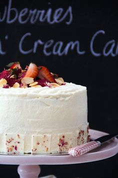 Strawberries and Cream Cake » A Swoonful of Sugar