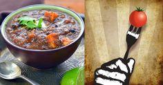 Black Bean Soup with Sweet Potatoes #recipe
