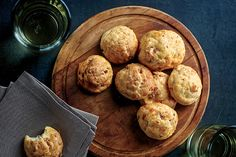 Andouille Gougeres - This recipes tells you how to use a mixer, I've always done this by hand, much easier.