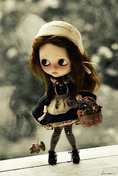 The details are amazing. Valentine by Cookie Dolls #Blythe #Cookiedolls #custom