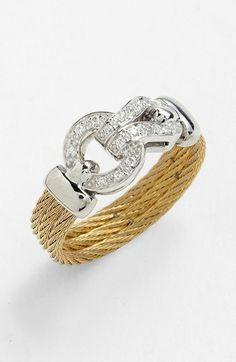 Charriol  'Classique' Diamond Knot Cable Ring  $695.00  Item #682370  http://shop.nordstrom.com