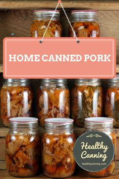 Canning pork - Healthy Canning Canning pork. Canning that pork is an economical way to store pork in a safe, quality form that is ready for instant use in a myriad of recipes, anything from curries to tajines to almost instant braised suppers. Pressure Canning Meat, Pressure Cooker Recipes, Pressure Cooking, Home Canning Recipes, Canning Tips, Canned Meat, Canned Food Storage, Canning Food Preservation, Preserving Food