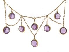 1880 Later Victorian Amethyst Necklace