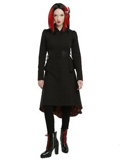 Disney Alice Through The Looking Glass Red Queen Battle Coat Pre-Order, BLACK