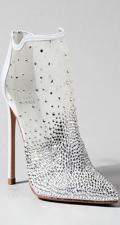 Stewart Weitzman ♥✤ Cinderella Glass Slipper/Bootie Interpretation