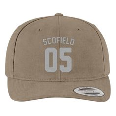 Jersey Michael Scofield Brushed Embroidered Cotton Twill Hat