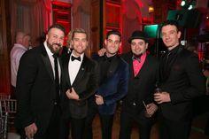 Joey Fatone, Lance Bass, Michael Turchin, Chris Kirkpatrick, and JC Chasez at Lance and Michael's Wedding (source: Lance's Facebook)