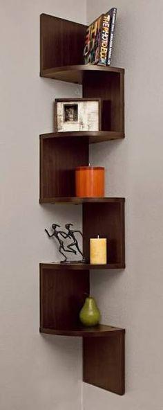 Image result for corner shelves decoration