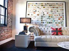 Image result for как украсить стену фотографиями без рамок