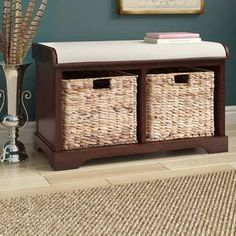 Hottest Photo Bathroom Storage bench Tips Right after wise bathroom storage thoughts? Bathroom storage is actually needed for trying to keep y Storage Bench With Cushion, Cubby Storage, Bench With Shoe Storage, Small Bathroom Storage, Upholstered Storage Bench, Bedroom Storage, Storage Drawers, Storage Baskets, Storage Spaces