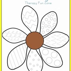 Therapy Fun Zone: Flower Writing Lines-practice writing and cutting with flower… Preschool Writing, Preschool Worksheets, Writing Activities, Preschool Activities, Writing Lines, Pre Writing, Writing Skills, Spring Activities, Motor Activities