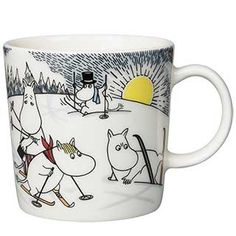 Skiing with Mr. Brisk Moomin Mug 2014 from Arabia by Tove Jansson, Tove Slotte