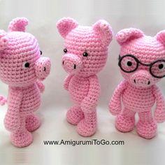 Little Bigfoot Piggy 2014 With Video Amigurumi - Free Crochet Pattern Crochet Pig, Crochet Patterns Amigurumi, Crochet For Kids, Diy Crochet, Crochet Crafts, Crochet Dolls, Crochet Projects, Crochet Tutorials, Video Tutorials