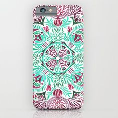 Vibrant floral mandala iPhone & iPod Case