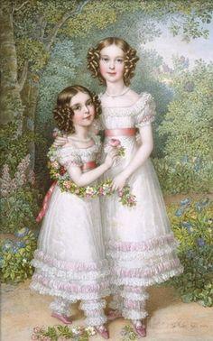 Johann Nepomuk Ender (1793-1854) —   The Talbot Sisters  (700×1122)