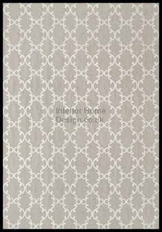 Anna French - Ballad Fabric - Roselli Trellis Embroidery AW2561 - White on Dark Grey