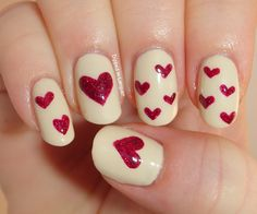 valentines nail art - Google Search